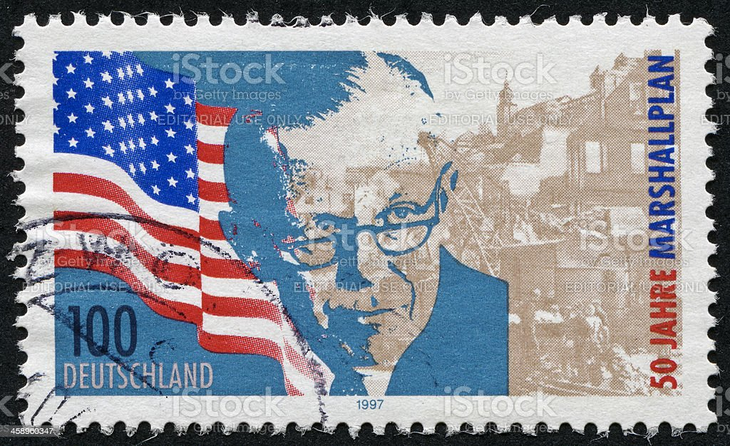 George C. Marshall Stamp stock photo