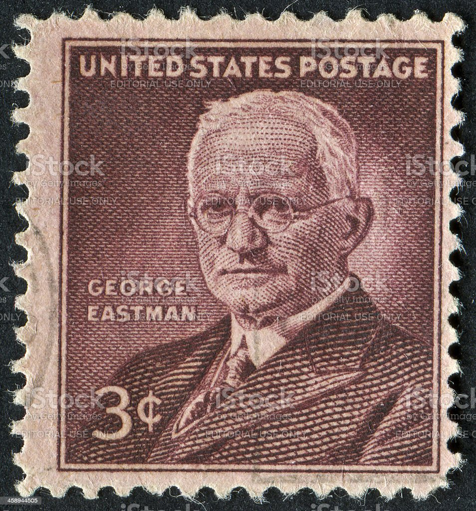 George Eastman Stamp royalty-free stock photo
