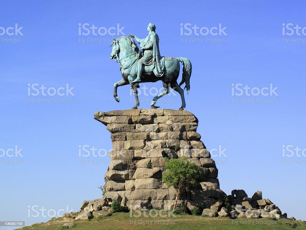 George III 'Copper Horse' Statue Windsor Castle stock photo