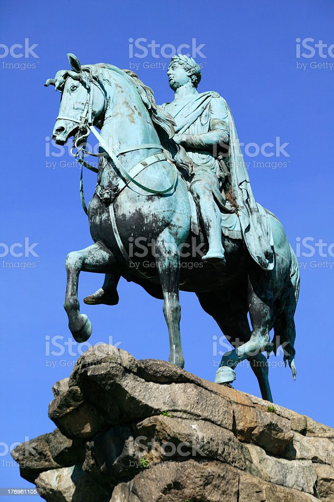 George III statue (Copper Horse) Windsor Great Park stock photo