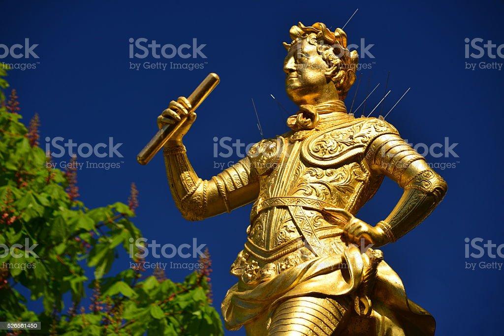 George II,Royal Square,St.Helier, Jersey, U.K. stock photo