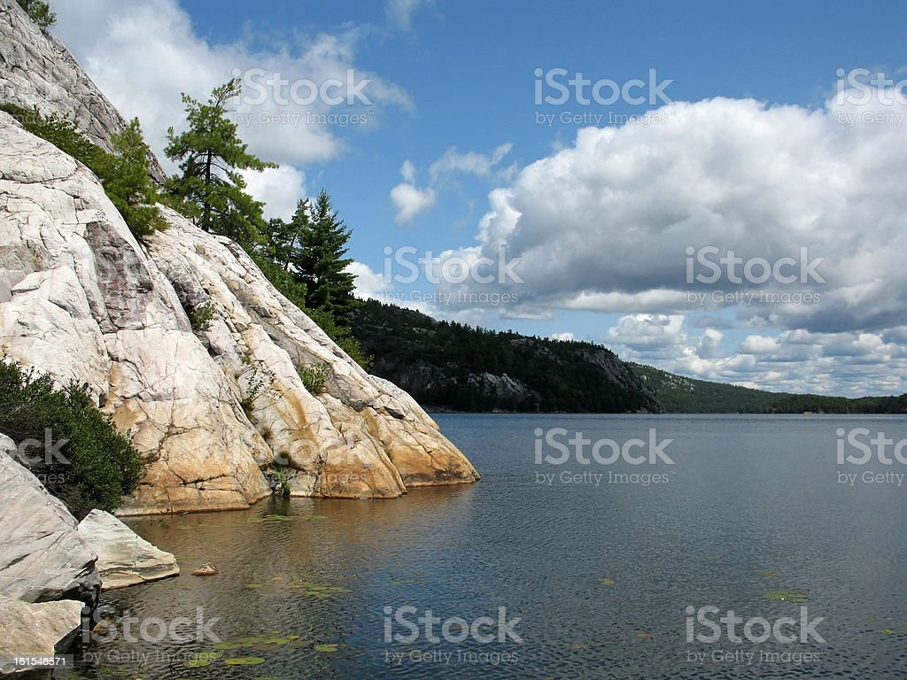 George Lake in Northern Ontario stock photo