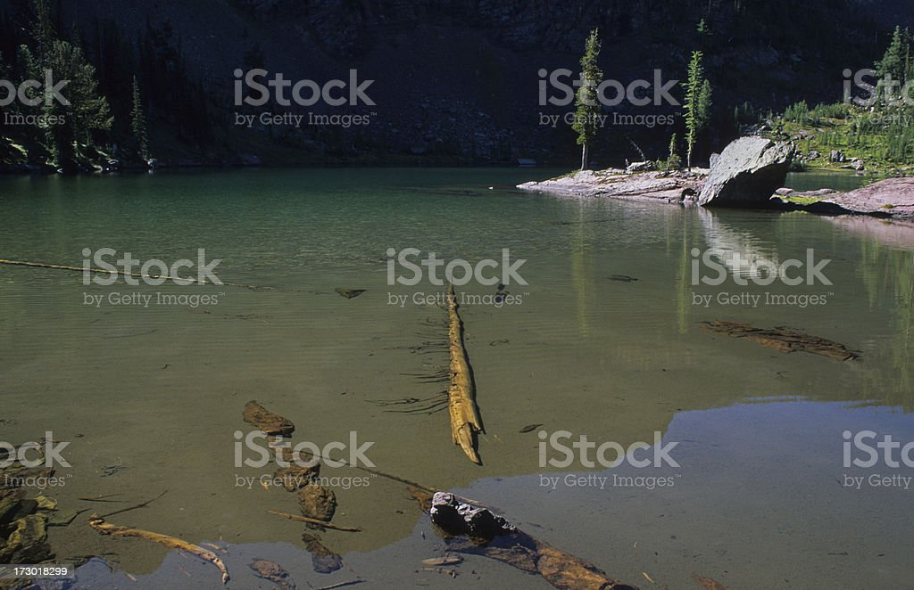 George Lake in the Bob Marshall Wilderness stock photo