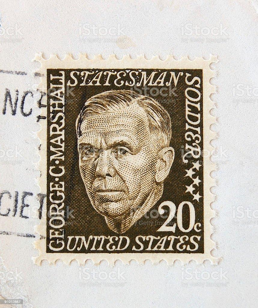 George Marshall Postage Stamp stock photo