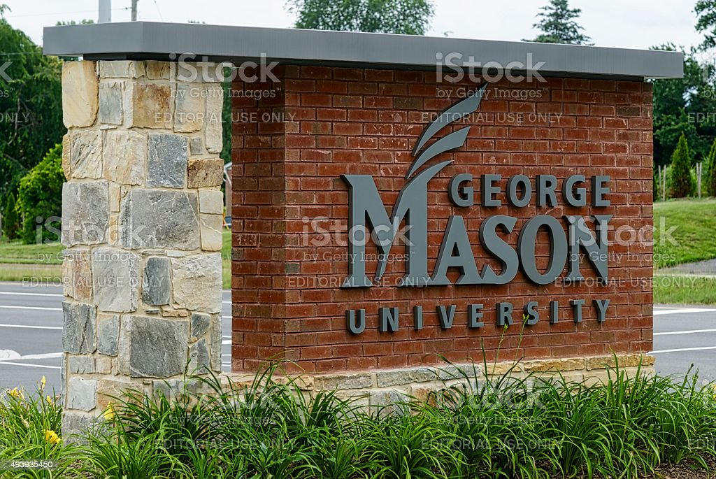 George Mason University Sign stock photo