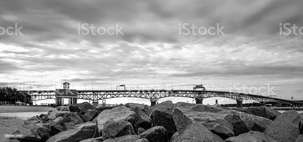 George P. Coleman Memorial Bridge stock photo