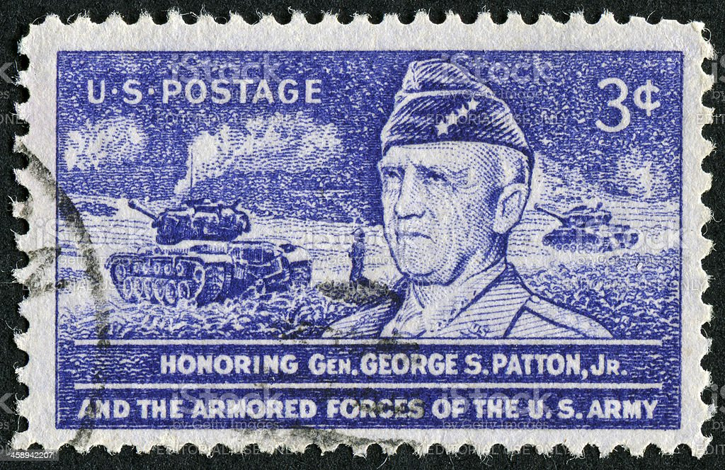 George S. Patton Stamp royalty-free stock photo