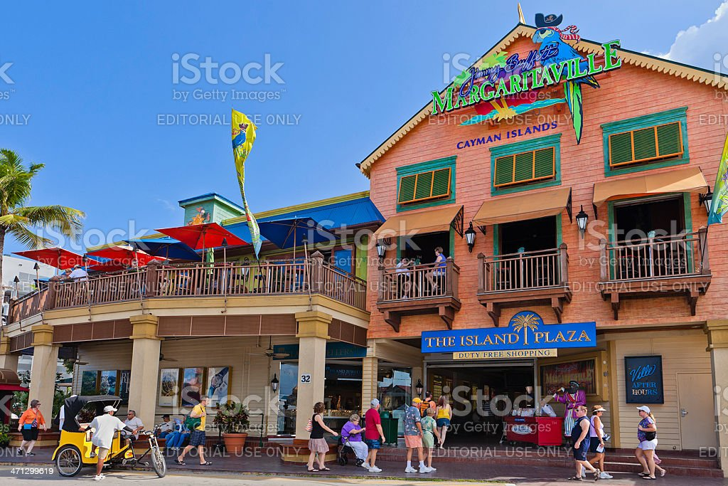 George Town Shopping District, Grand Cayman stock photo