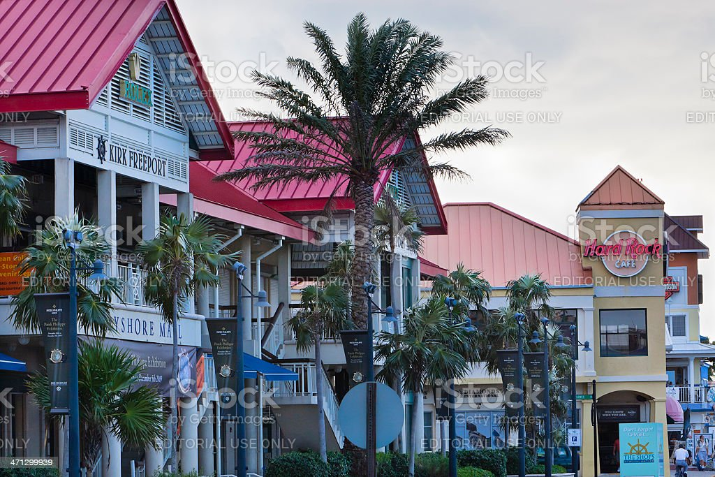 George Town Shopping Road, Grand Cayman stock photo
