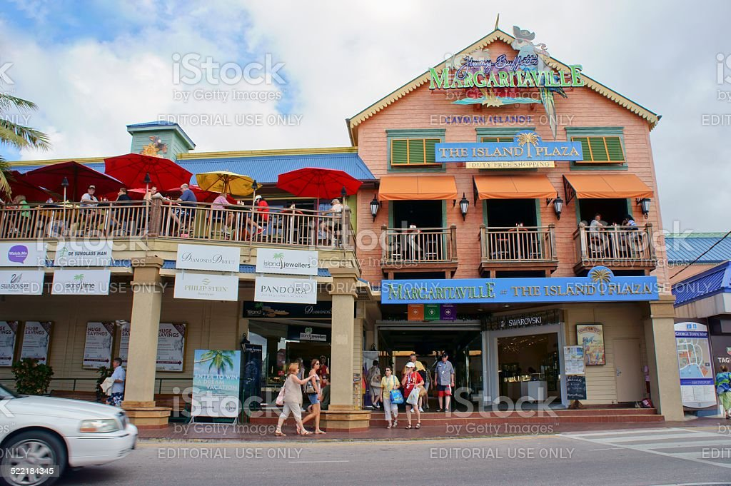 George Town tourists and patrons by Island Plaza duty free stock photo