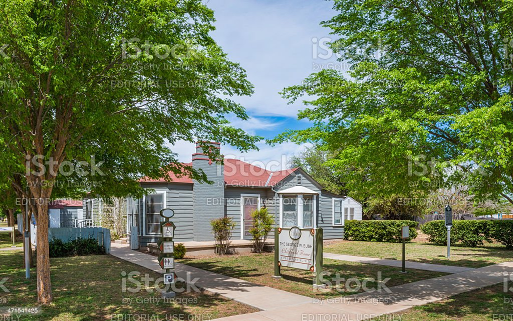 George W. Bush historic childhood home in Midland Texas stock photo