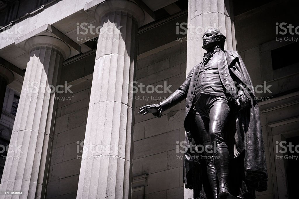 George Wahington Statue stock photo