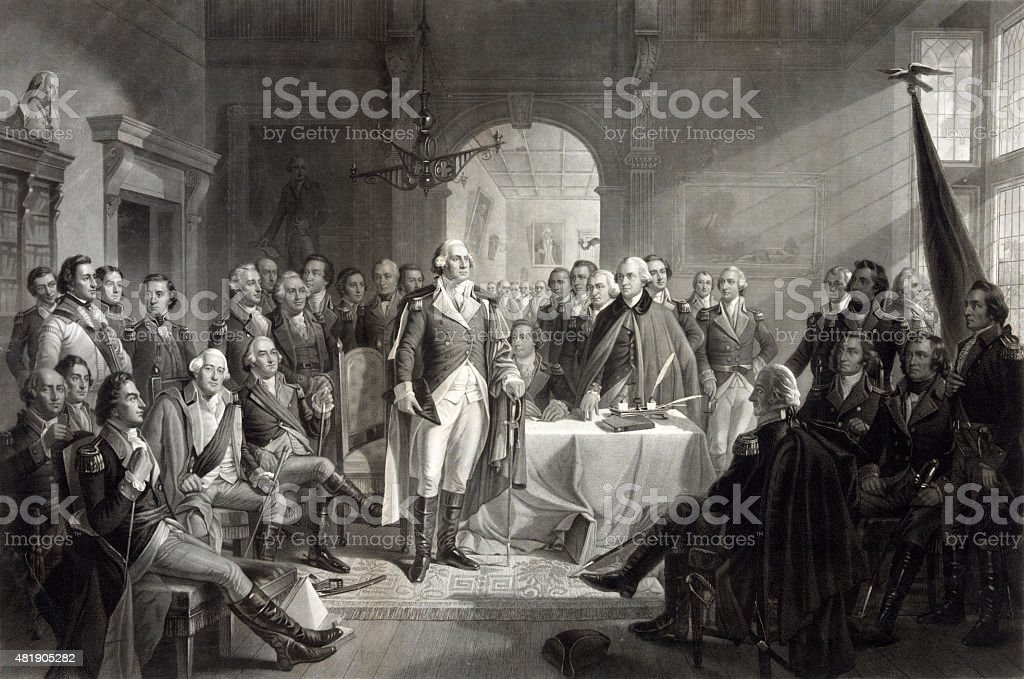 George Washington and His Generals stock photo