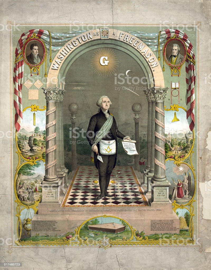 George Washington as a Freemason stock photo