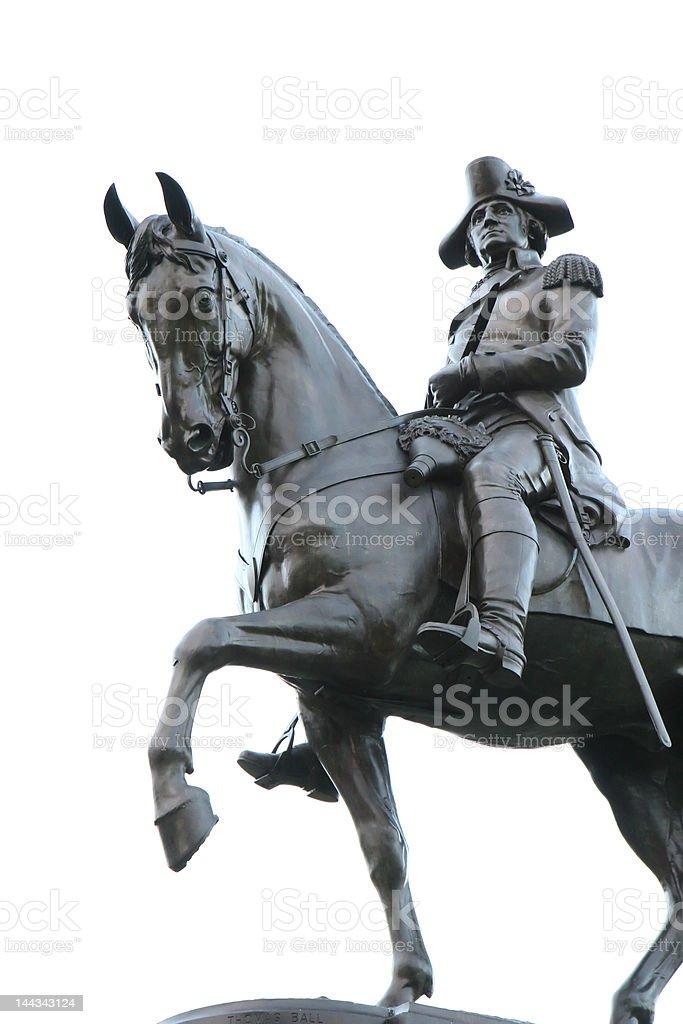 George Washington Boston Statue royalty-free stock photo