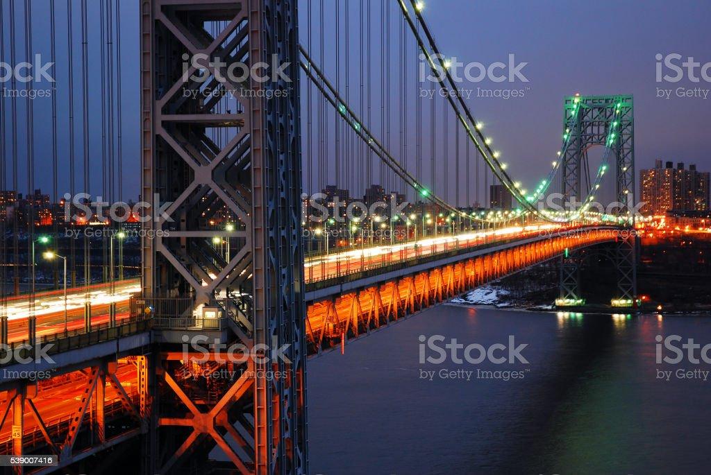 George Washington Bridge over the Hudson River stock photo
