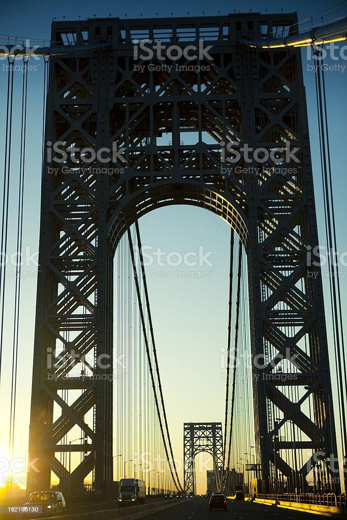 George Washington Bridge royalty-free stock photo