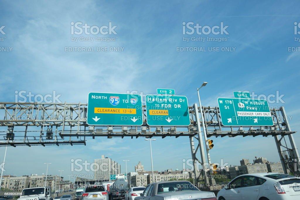 George Washington Bridge upper level stock photo