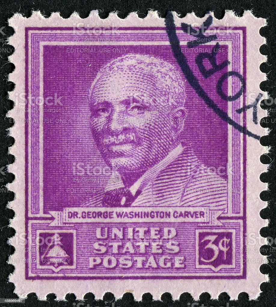 George Washington Carver Stamp stock photo