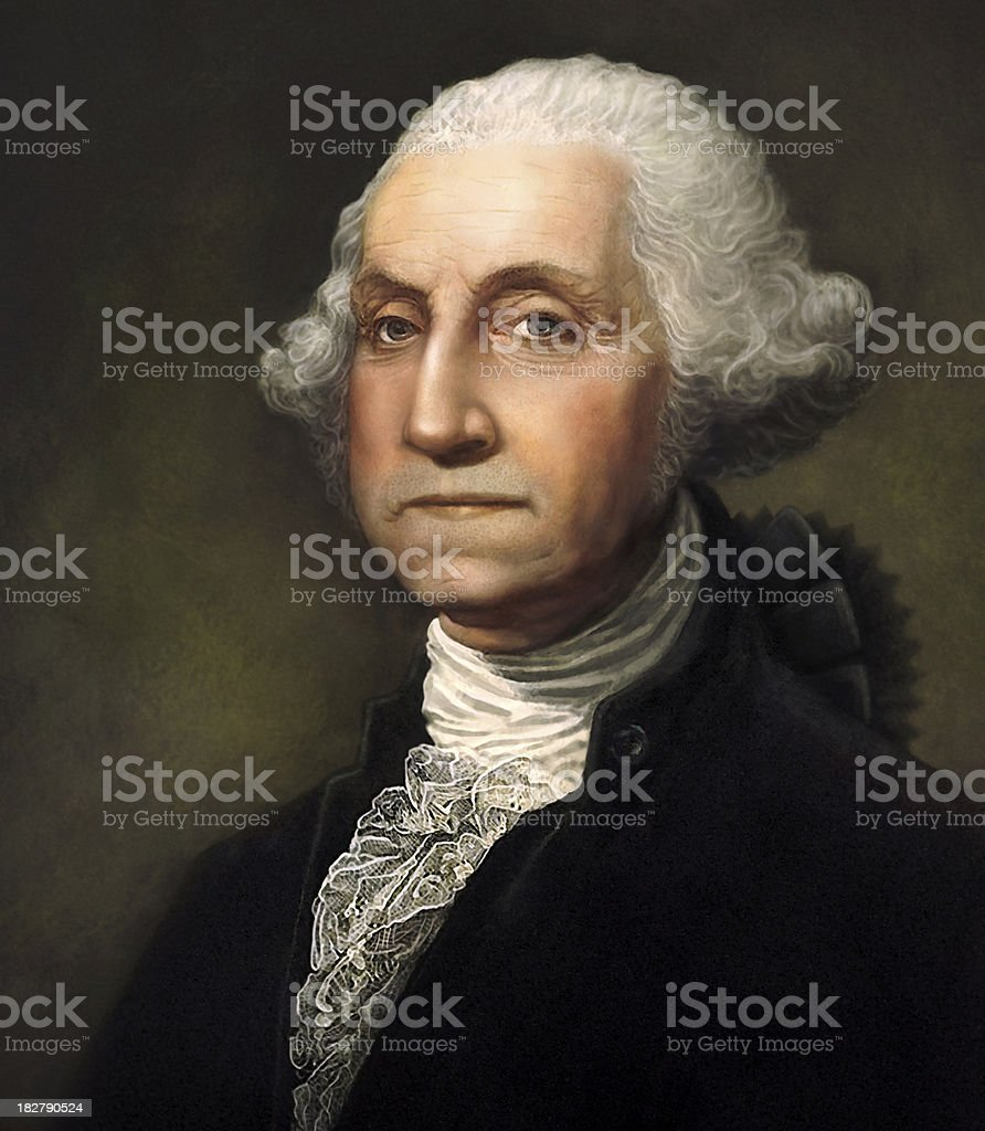 George Washington Digitally Generated Portrait stock photo