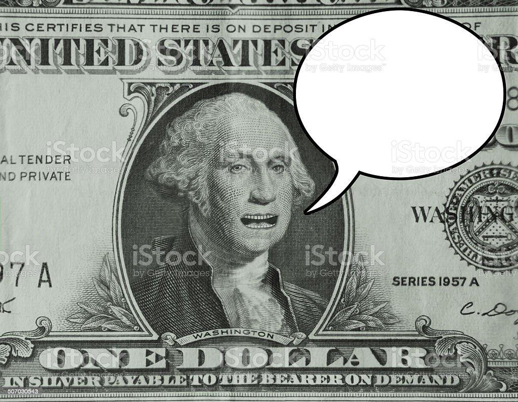 George Washington Dollar Speaking stock photo