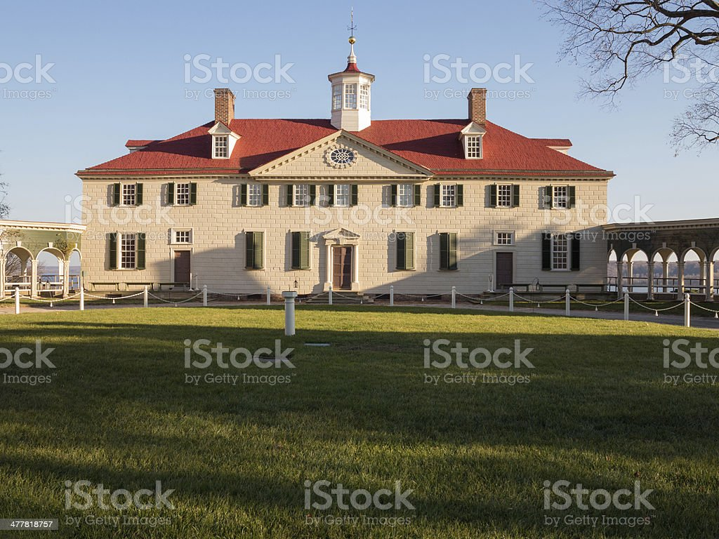 George Washington house Mount Vernon stock photo