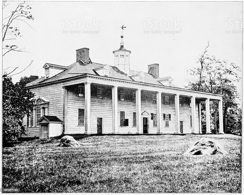 George Washington House, Vernon, Virginia, USA in 1880s stock photo