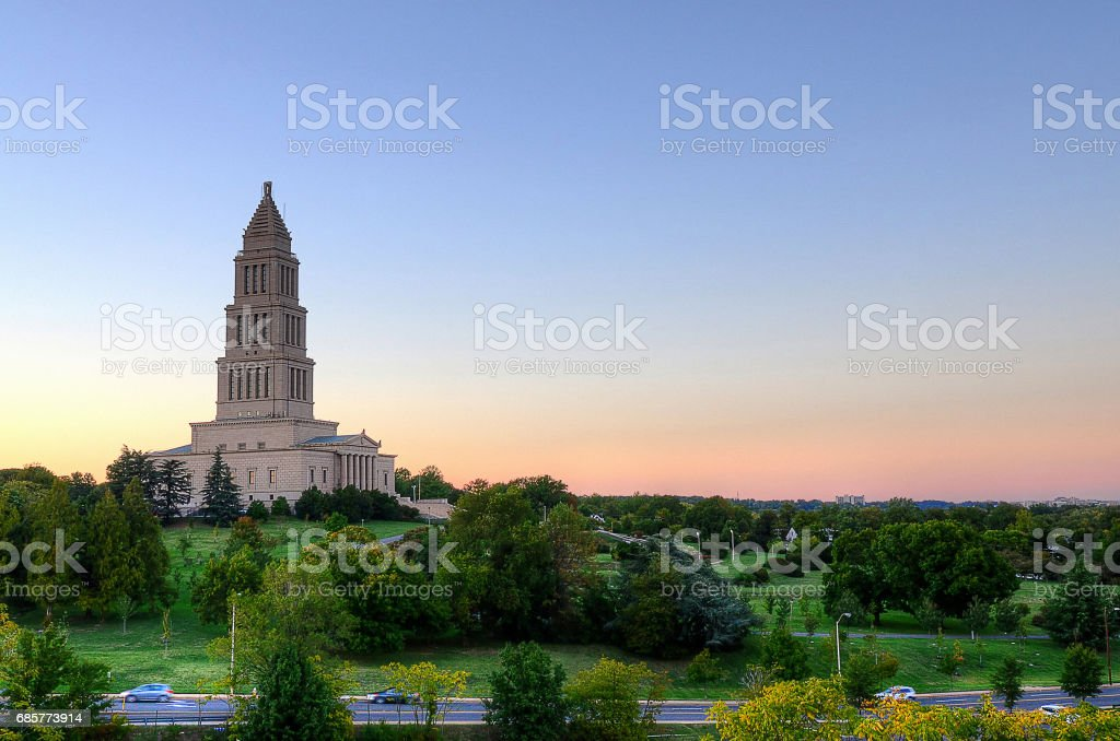 George Washington Masonic Memorial stock photo