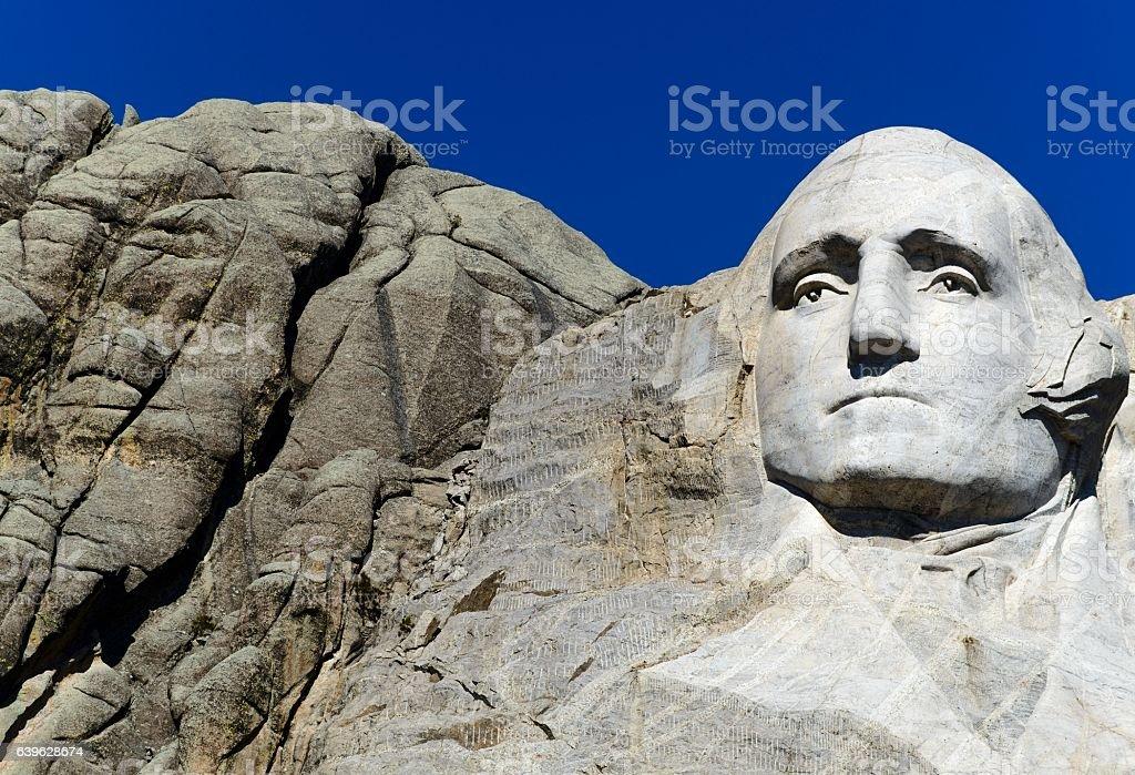 George Washington, Mount Rushmore National Monument stock photo