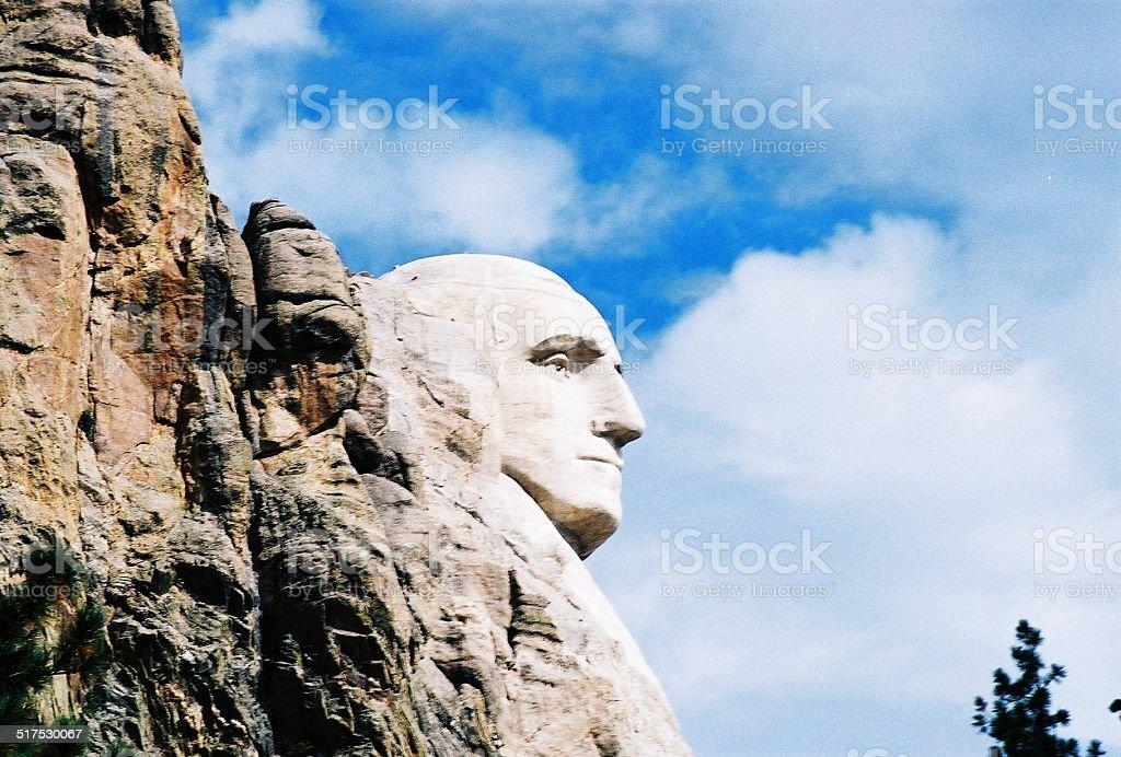 George Washington - Mount Rushmore stock photo