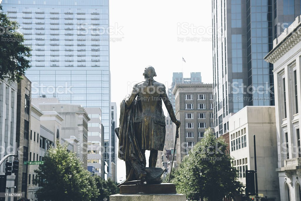 George Washington overlooking Raleigh NC stock photo