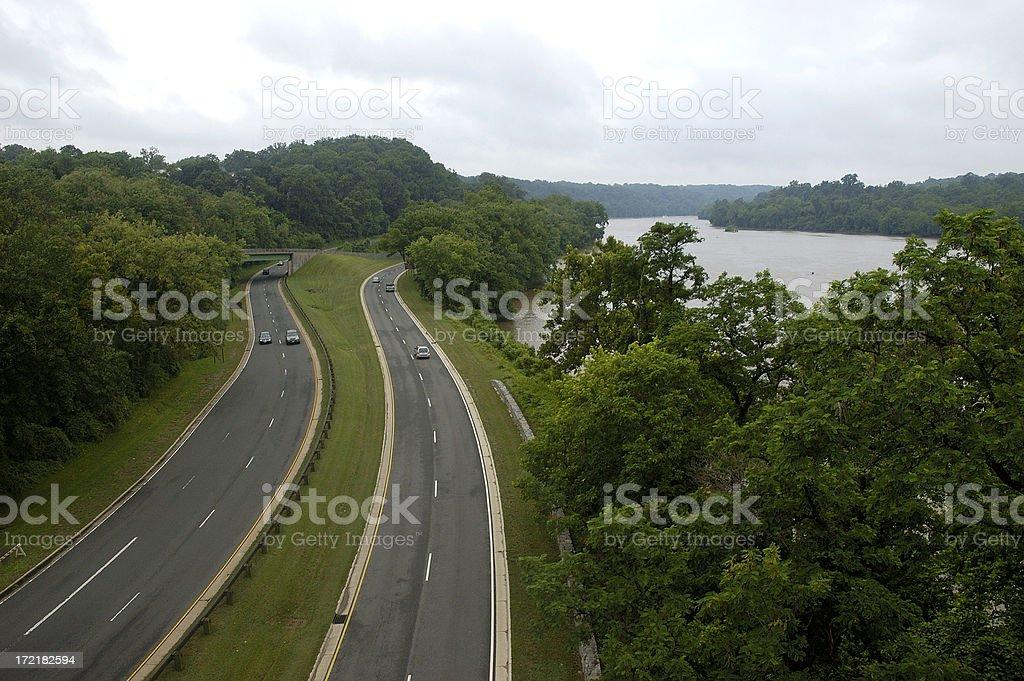 George Washington Parkway royalty-free stock photo