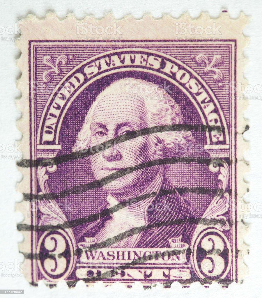 George Washington Postage Stamp 1931 royalty-free stock photo