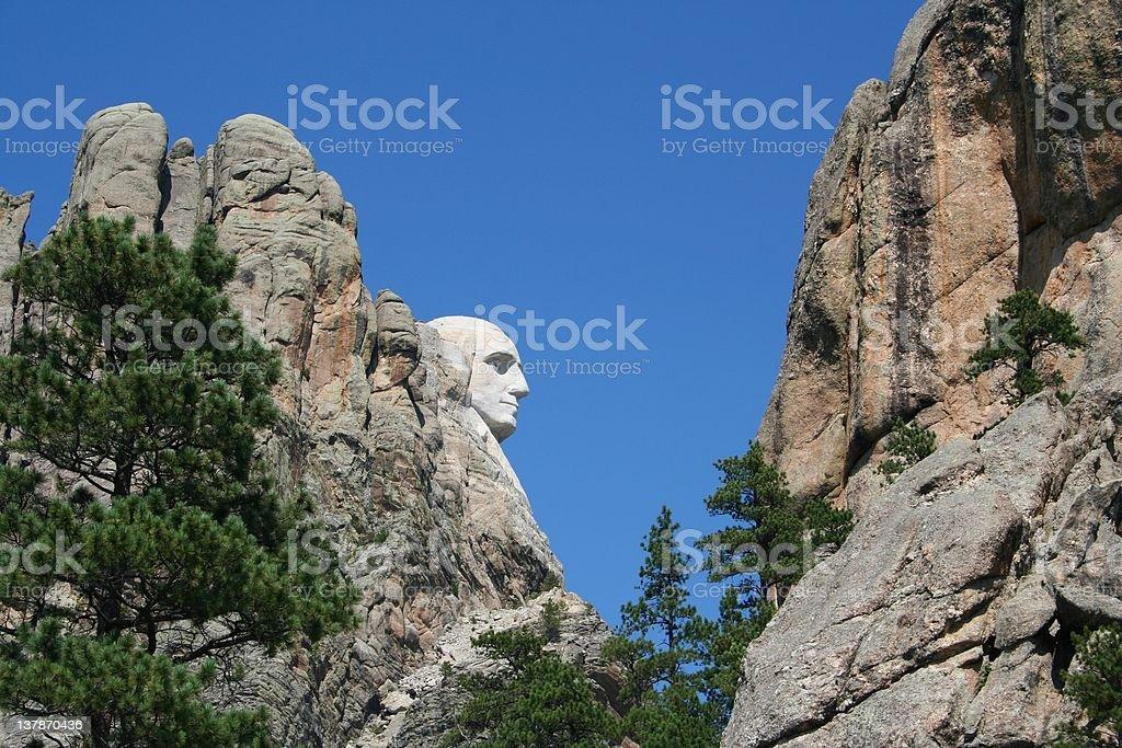 George Washington Profile, Mt. Rushmore stock photo