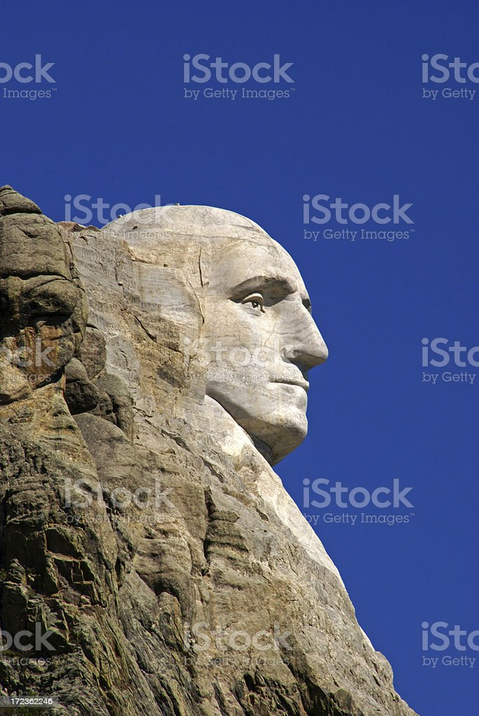 George Washington Profile stock photo