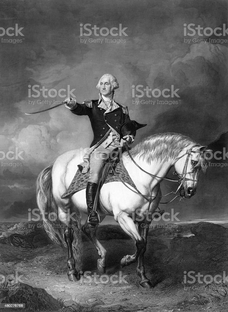 George Washington Salute at Trenton stock photo