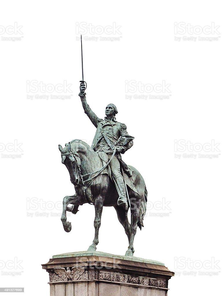 George Washington sculpture in Paris, France stock photo