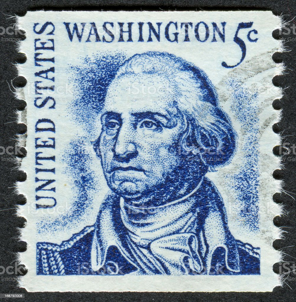 George Washington Stamp stock photo
