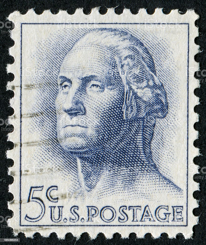 George Washington Stamp stock photo