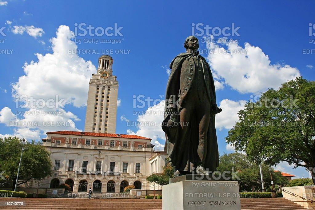 George Washington statue at University of Texas stock photo