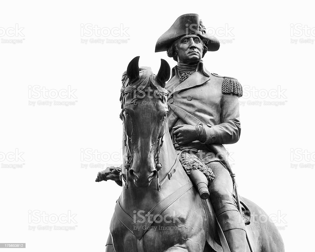 George Washington Statue, Boston MA stock photo