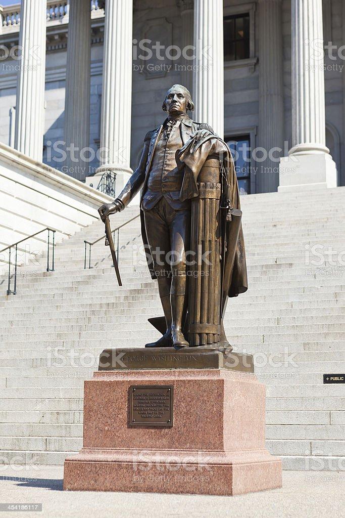 George Washington Statue From Columbia, South Carolina stock photo