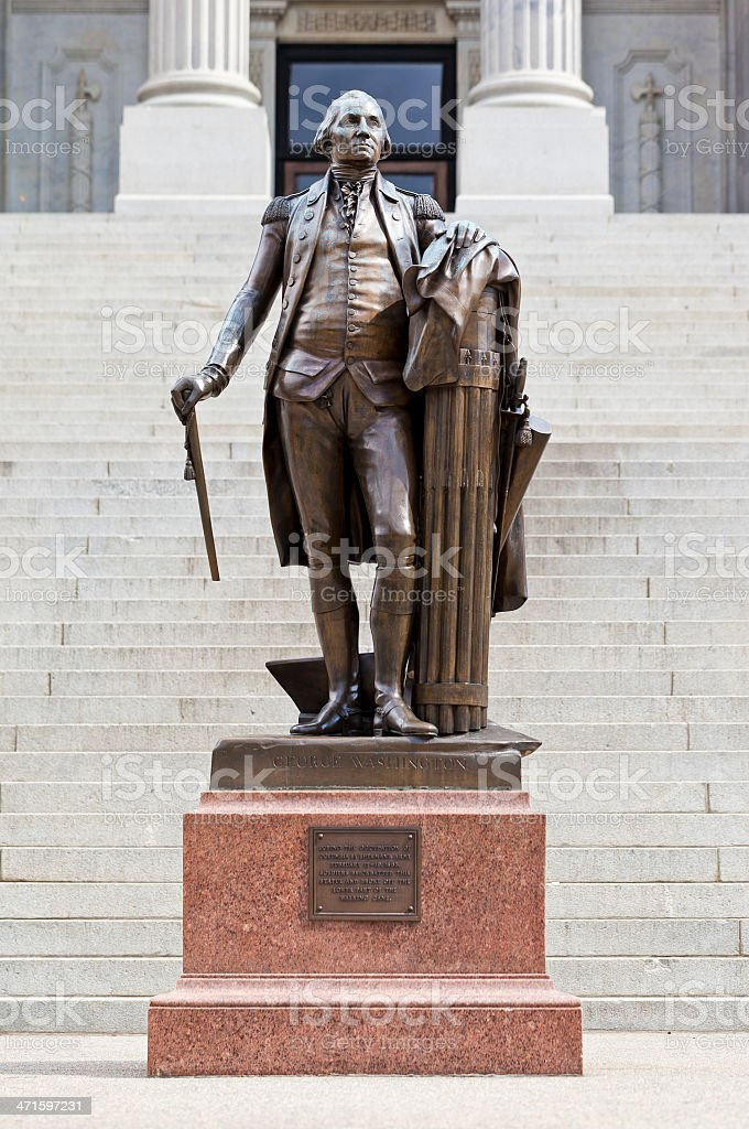 George Washington Statue From Columbia, South Carolina royalty-free stock photo