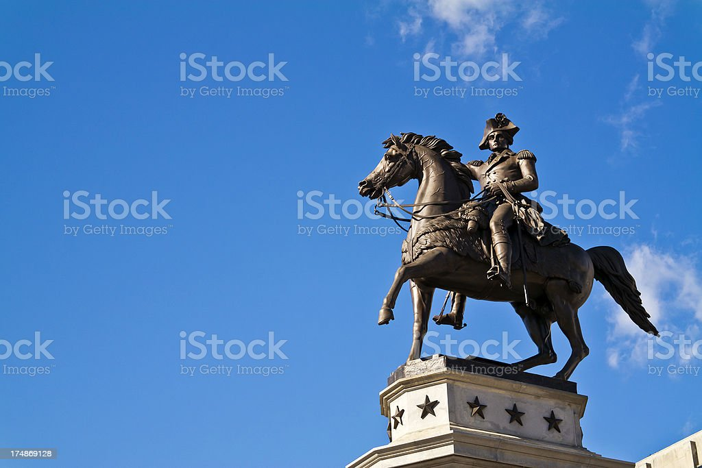 George Washington Statue In Richmond, Virginia stock photo