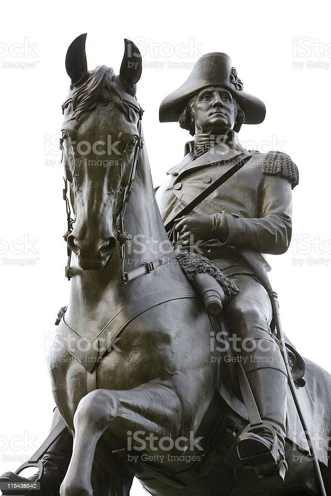 George Washington Statue stock photo