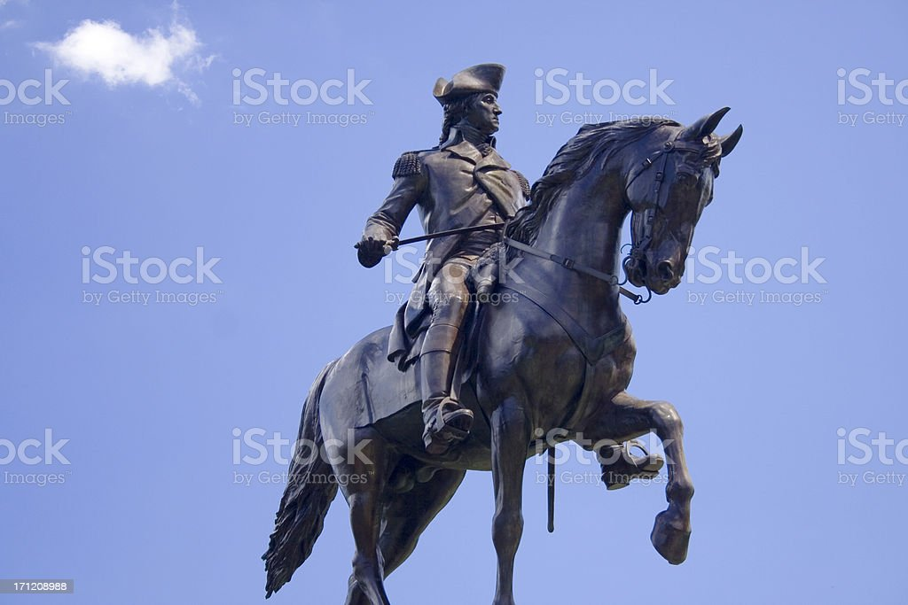 George Washington Statue stock photo