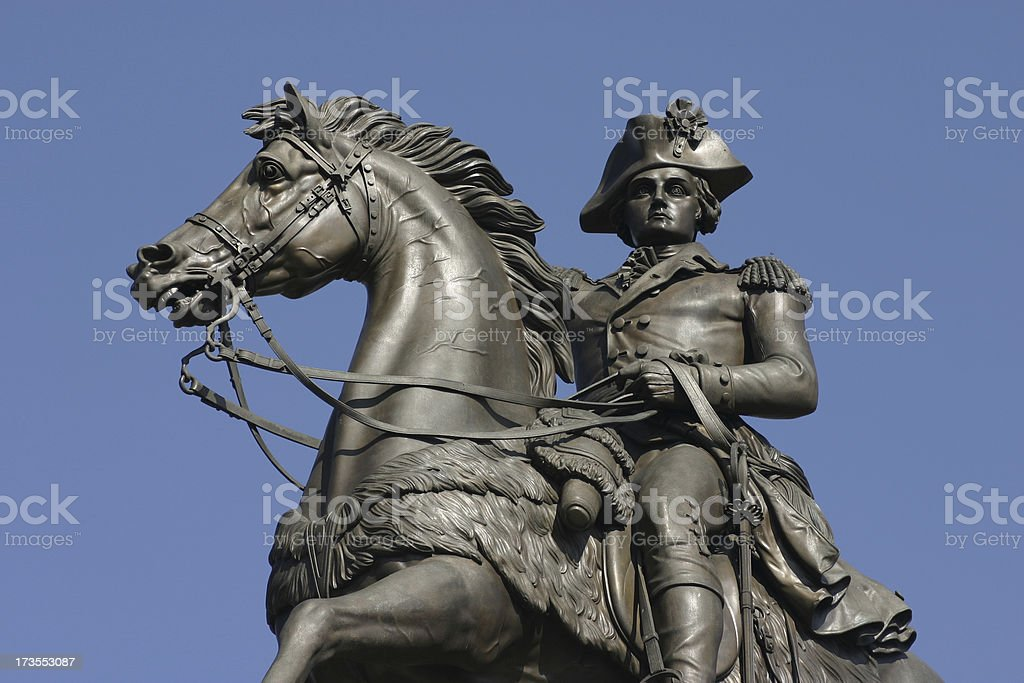 George Washington Statue royalty-free stock photo