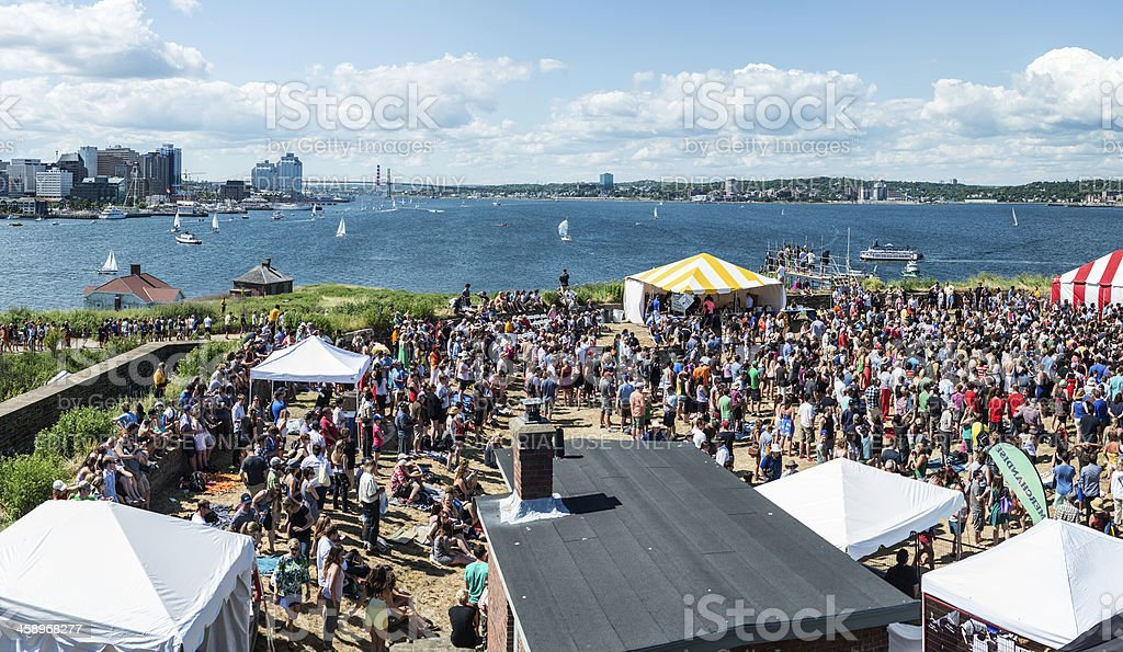 George's Island Concert royalty-free stock photo