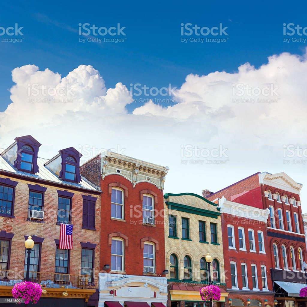 Georgetown historical district facades Washington stock photo