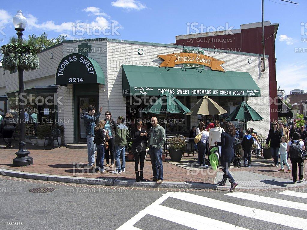 Georgetown Ice Cream Vendor royalty-free stock photo